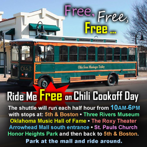 Free Trolley Rides on Chili Cook-Off Day